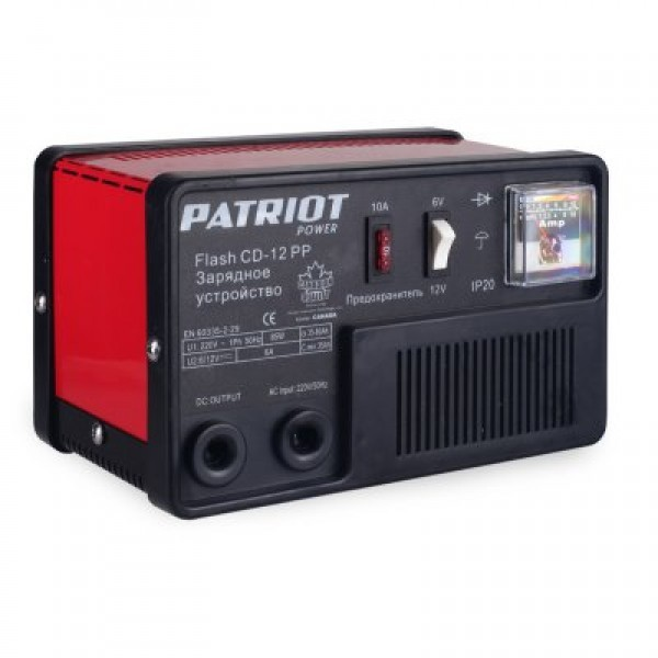 "ЗУ ""Патриот Power Flash CD-12PP"" 100Вт,12/24В,6А,35-80А/ч,3,4кг"